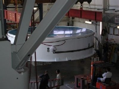 A picture of the Magellan Mirror in use
